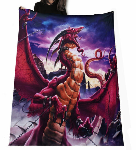 Wild Star - Unleashed Red Dragon - Fleece/Throw/Tapestry