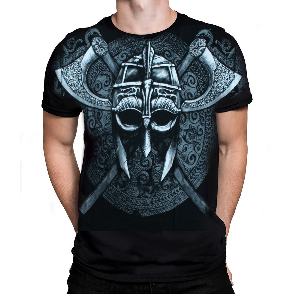 Fantasmogoria - VIKING HELMET - Mens T-Shirt