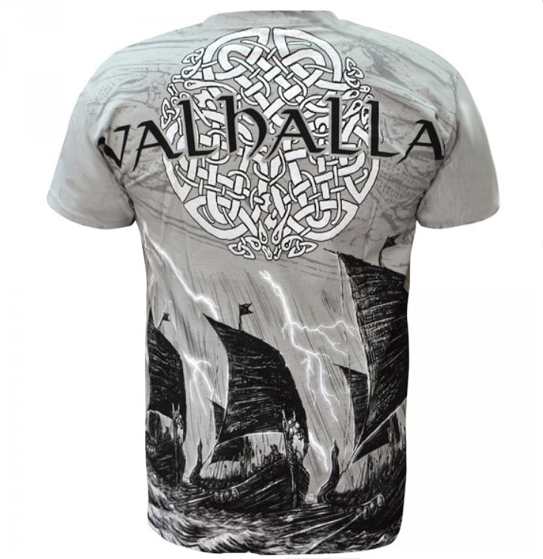Aquila VIKING VALHALLA Mens Grey T Shirt