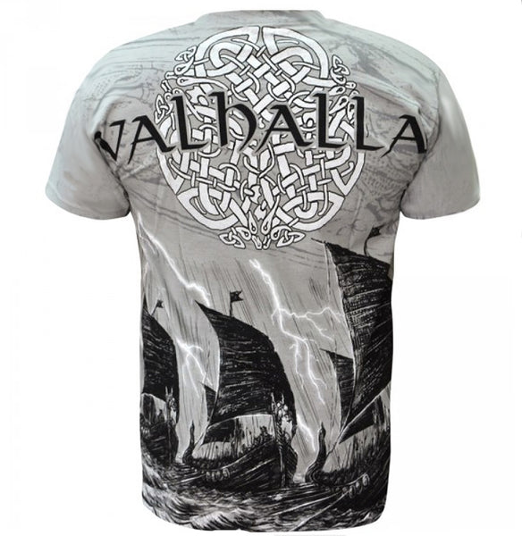 Aquila - VIKING VALHALLA - Mens Grey T-Shirt