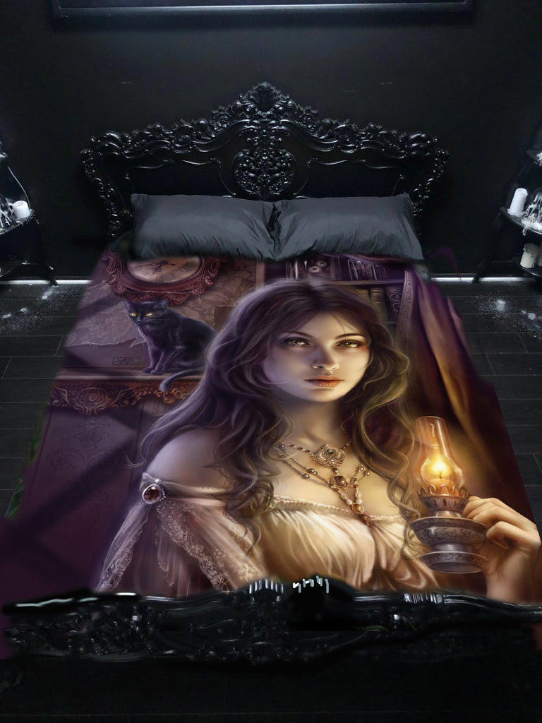 WSH - WITCHING HOUR - Twin Bedspread Top Cover by Cris Ortega