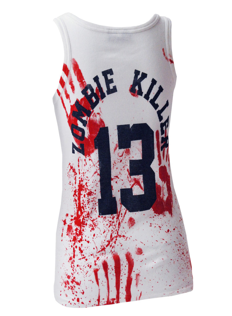 Darkside - ZOMBIE KILLER 13 - Womens Ribbed Vest Top - White