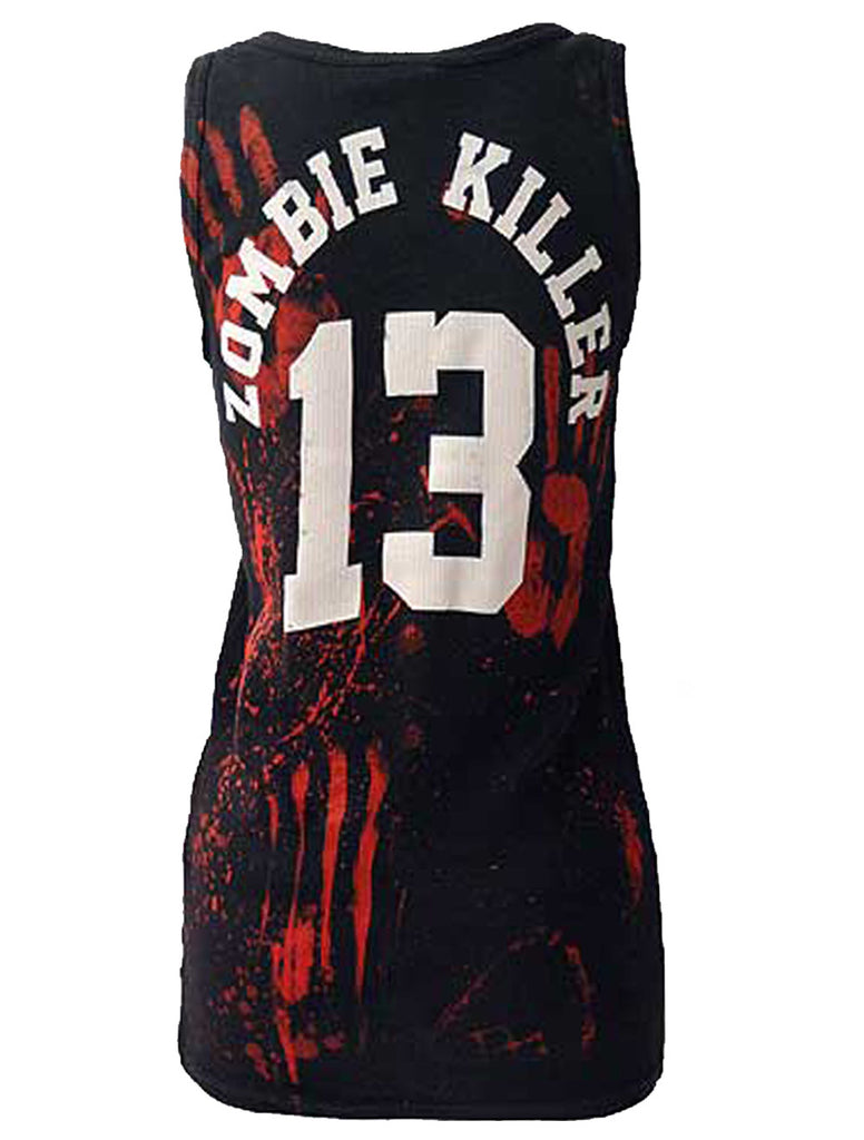 Darkside - ZOMBIE KILLER 13 - Ribbed Vest Top - Black
