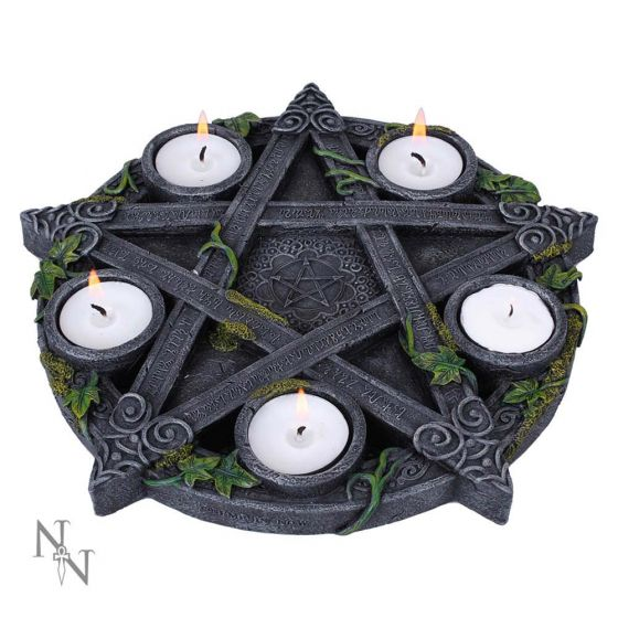 Nemesis Now - WICCAN PENTAGRAM - T-Light Holder