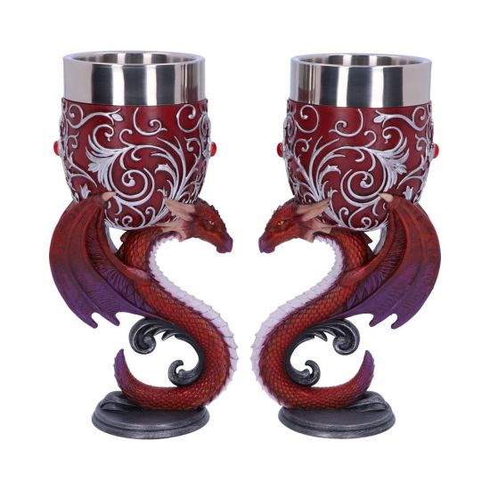 Nemesis Now - DRAGONS DEVOTION -  Goblets 18.5cm (Set of 2)