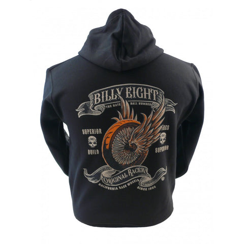 Billy Eight - ORIGINAL RACER - Mens Hoodie - Black