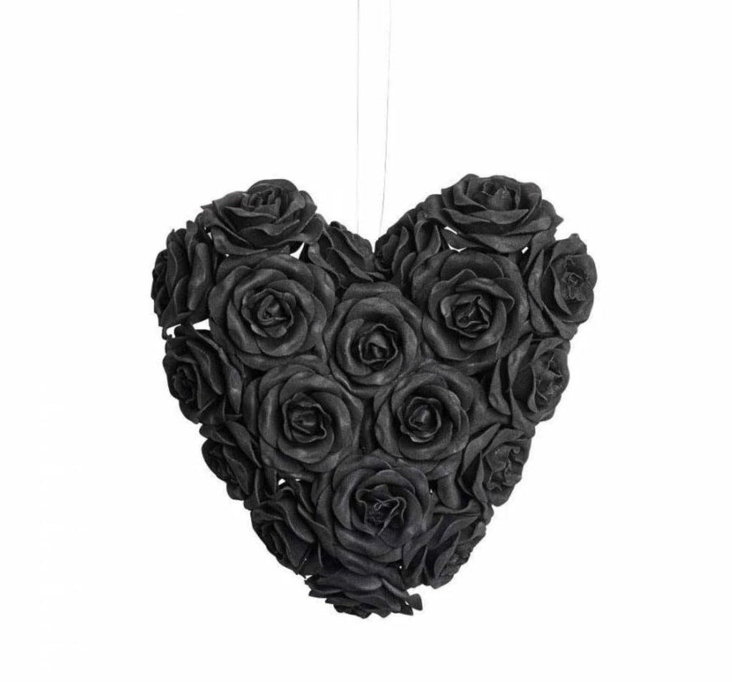 Image of Black Rose Heart from the front