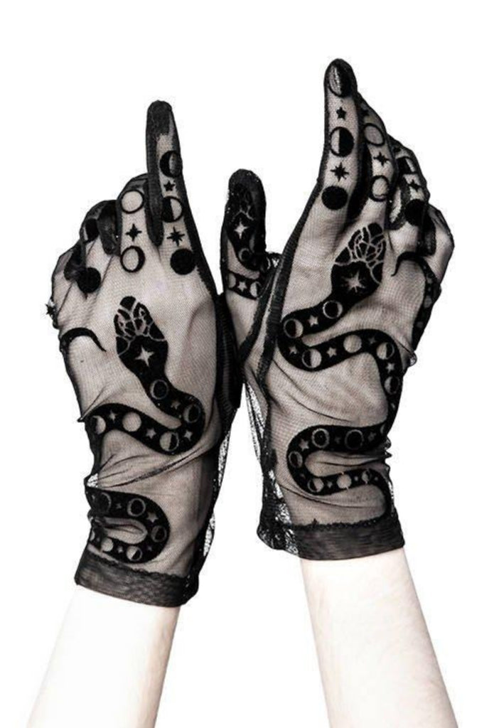 Restyle - SNAKE GLOVES - Gothic Accessory