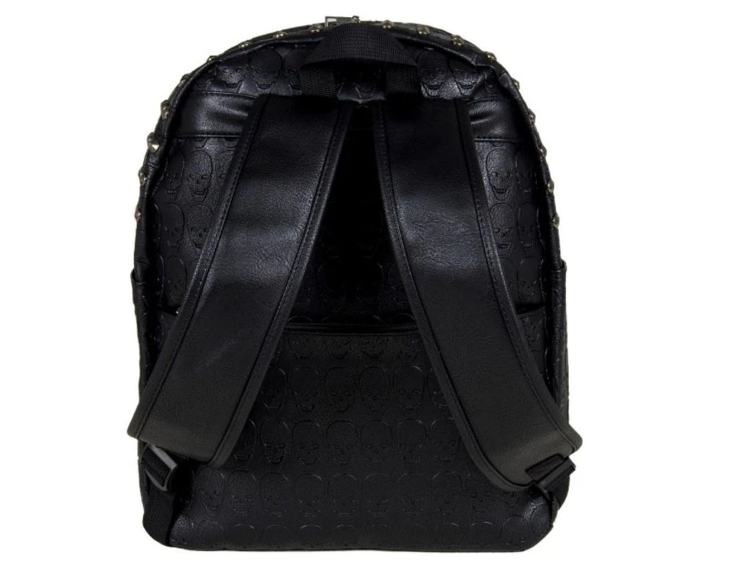 Gothx - EMBOSSED SKULLS - Backpack
