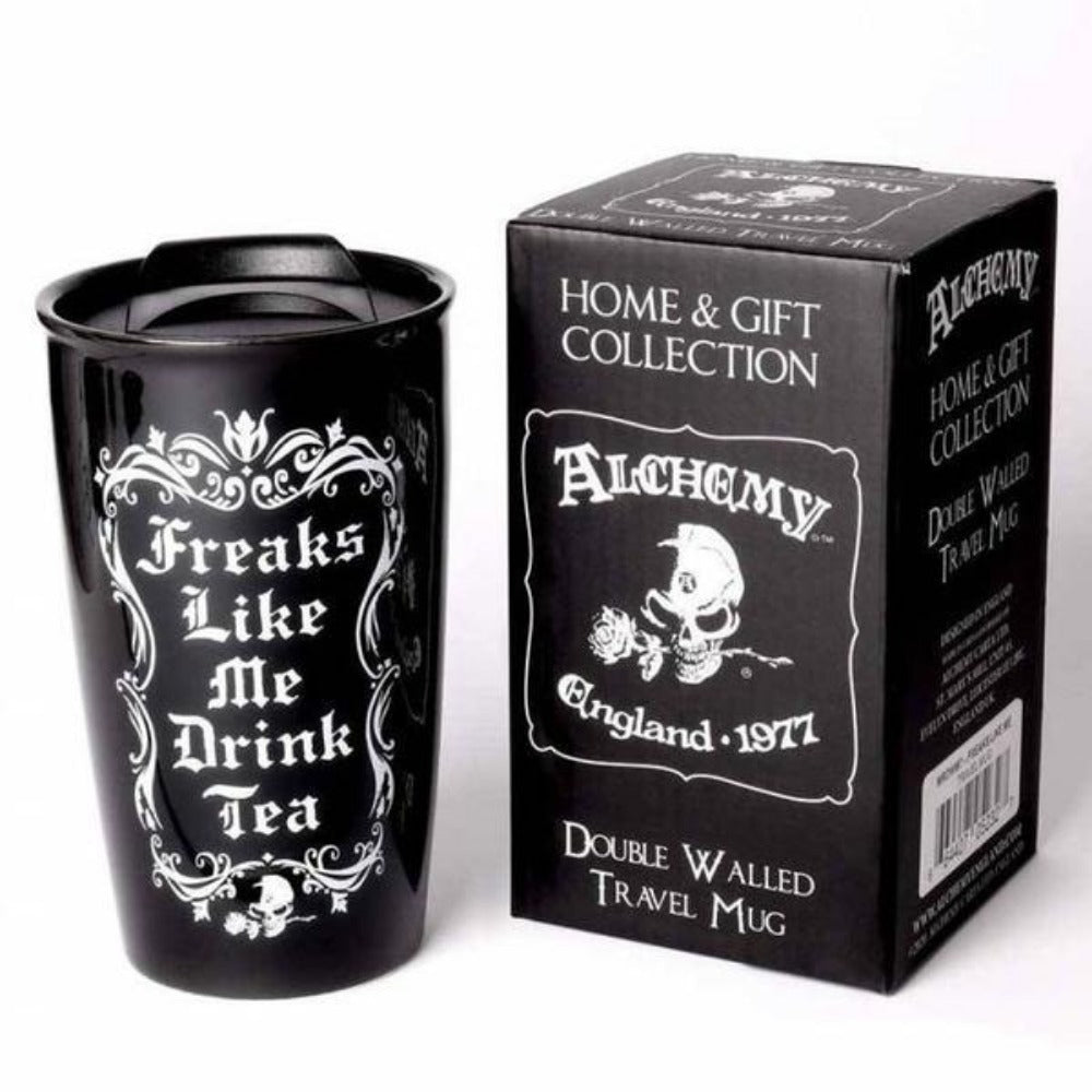 Alchemy - Freaks Like Me Drink Tea - Double Walled Mug