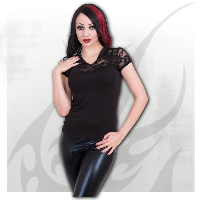 Spiral - GOTHIC ELEGANCE - High Neck Lace Corset Top