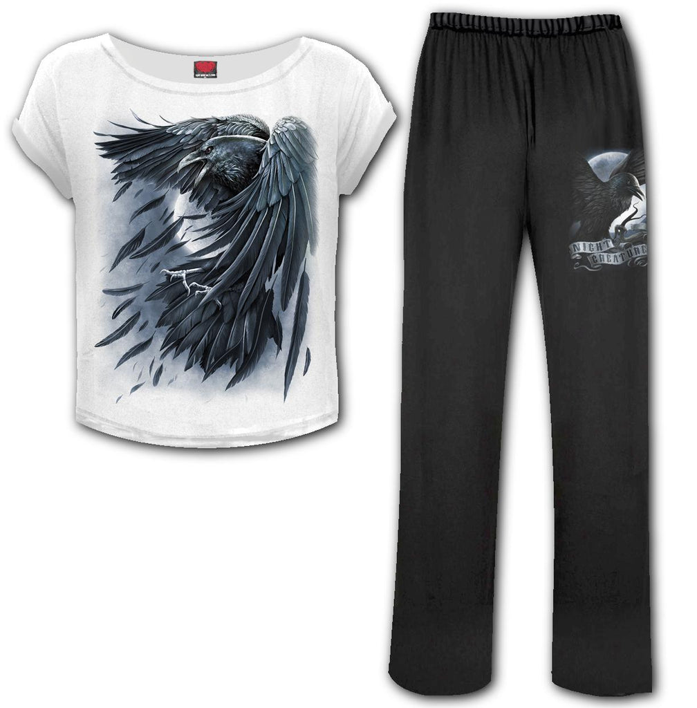 Spiral Direct - Raven Heart - 4pc Gothic Pyjama Set
