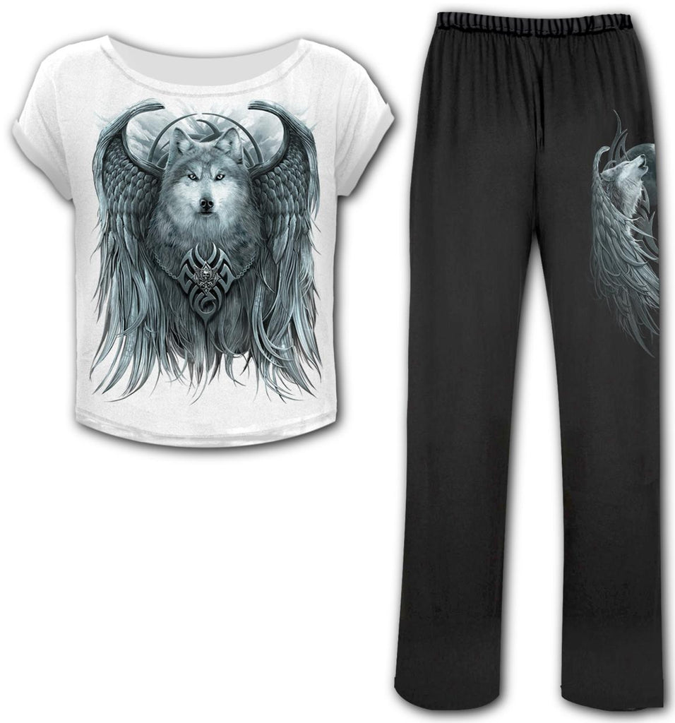 Spiral Direct - Wolf Spirit - 4pc Gothic Pyjama Set