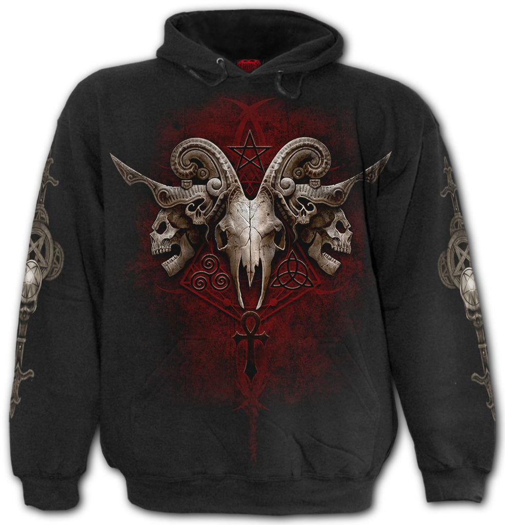 Spiral - Faces of Goth - Hoody, Black