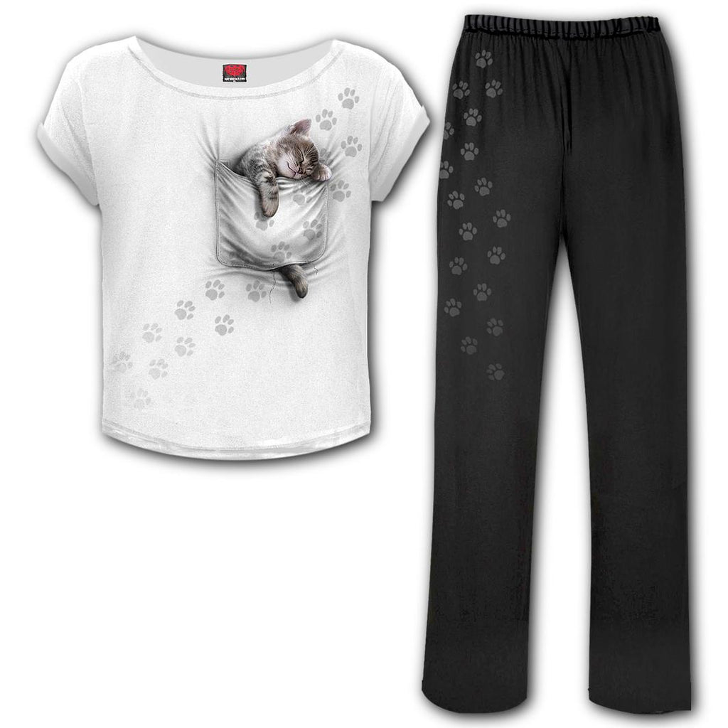 Spiral Direct - Pocket Kitten - 4pc Gothic Pyjama Set
