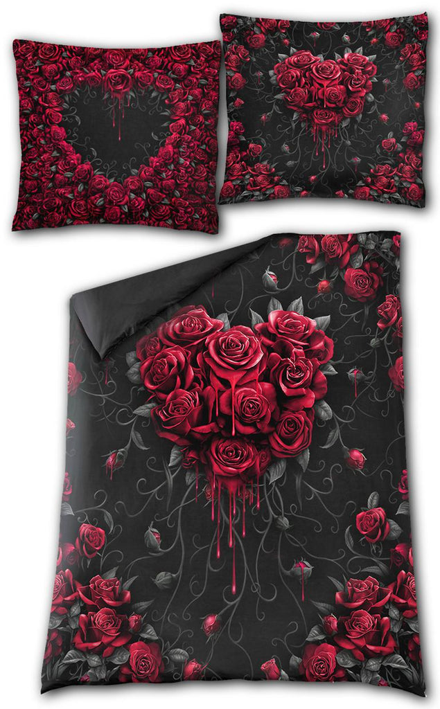 Spiral - Bleeding Heart  - Double sided Duvet Set - Double Bed