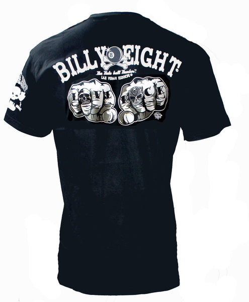 Billy Eight- LOVE ROCK - Mens T-Shirt - Black