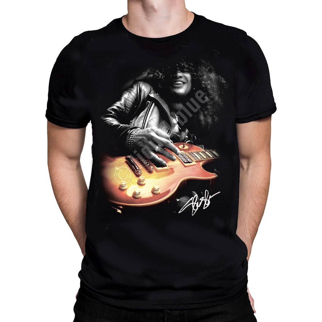 Liquid Blue - SLASH GUITAR - Short Sleeve T-Shirt .