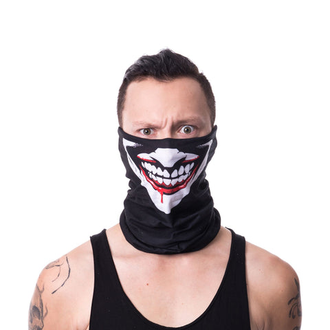 Poizen Ind - THE JOKER MASK - Snood Face Mask