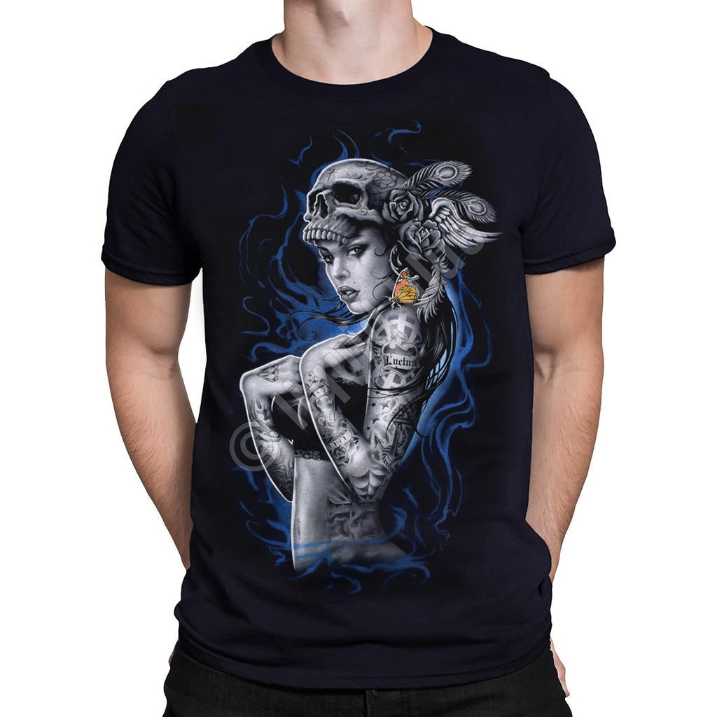 Liquid Blue - SMOKE TATTOO BLACK - T-Shirt - Black