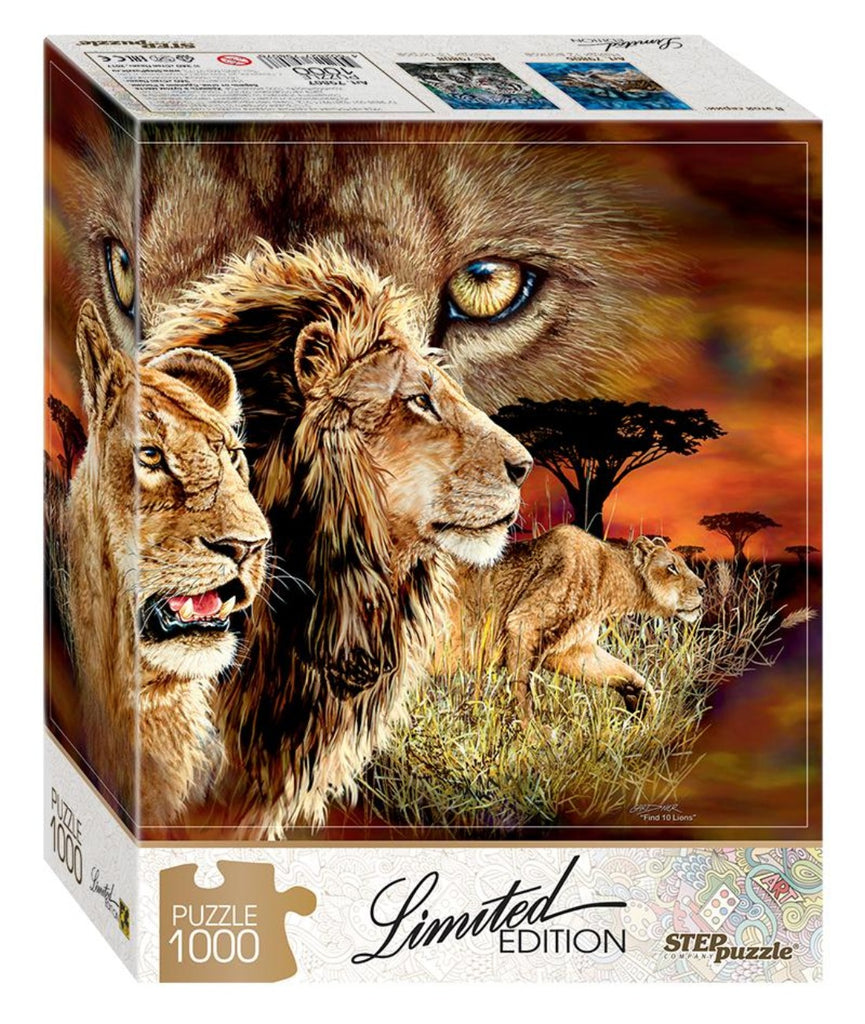 Limited Edition - FIND 10 LIONS - 1000 piece puzzle