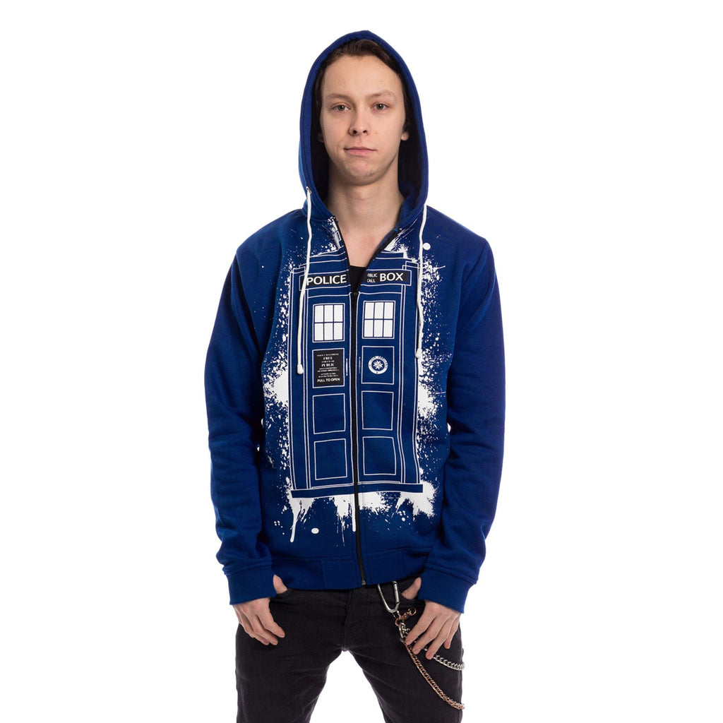 Heartless - DOCTOR WHO TARDIS GRAFFITI - Mens Hoody