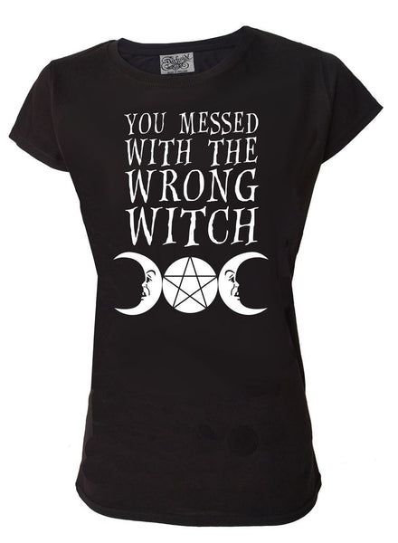 Darkside - YOU MESSED WITH THE WRONG WITCH - Womens Scoop Neck T Shirt