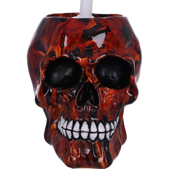 Nemesis Now - Brush With Death - Inferno Toilet Brush Holder