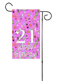 Happy 21st Birthday Garden Flag