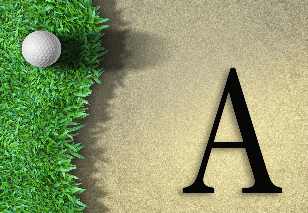 Golfing Initial Welcome Mat