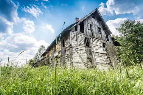 Abandoned Wooden Rural Farm House Vinyl Print