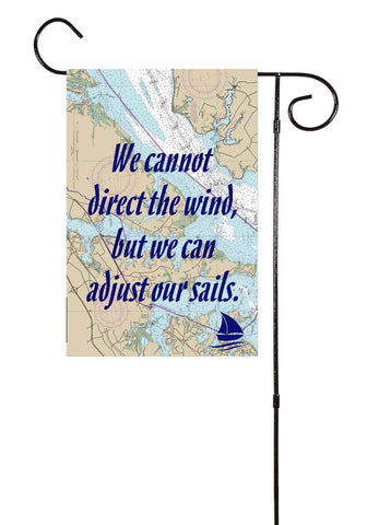 Adjust Our Sails Nautical Garden Flag