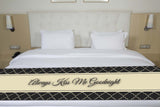 Black Quatrefoil Bed Runner