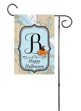 Happy Halloween - Initial Nautical Garden Flag