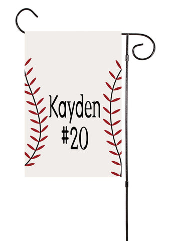 Baseball Custom Garden Flag