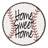 Baseball Home Sweet Home Sticker