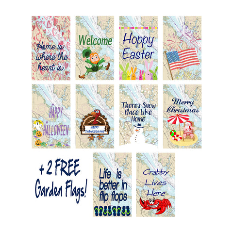 Beach Bum Garden Flag Bundle