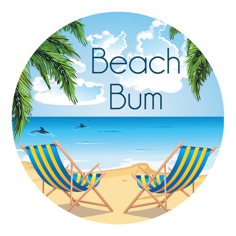 Beach Bum Sticker