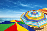 Beach Umbrellas Vinyl Print