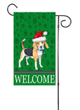 Christmas Beagle Garden Flag