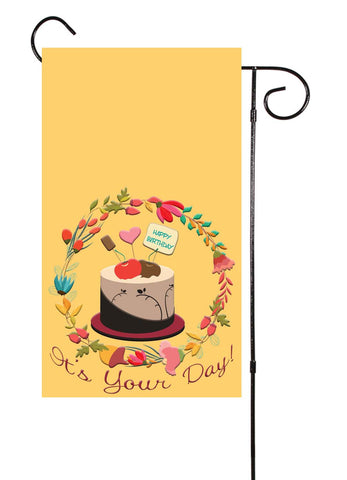Happy Birthday - It's Your Day! Garden Flag