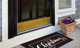 Black & Gold Classic Merry Christmas Welcome Mat