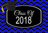 Graduation Class of 2018 Plain or Chevron Welcome Mat