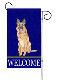 German Shepard Dog Garden Flag
