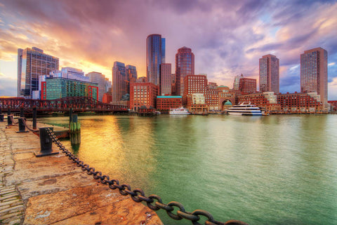 Boston Massachusetts Vinyl Print