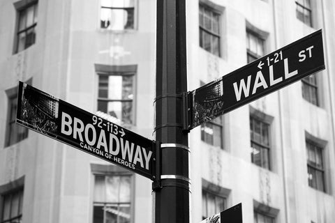 Broadway & Wall Street New York Vinyl Print