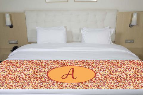 Red Brush Initial Premium Bed Runner