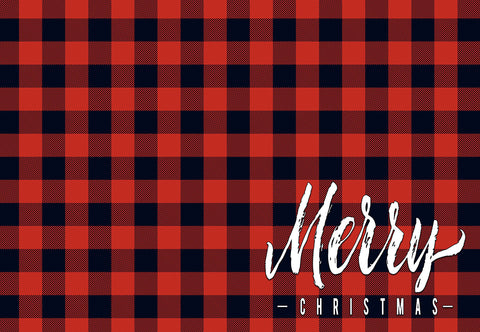 Buffalo Check - Merry Christmas Welcome Mat