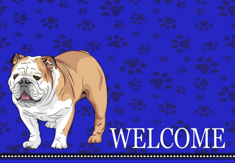 English Bulldog Welcome Mat