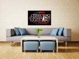 Bulldog Football Rodeo Vinyl Print